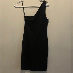 Forever 21 black one shoulder dress sz small